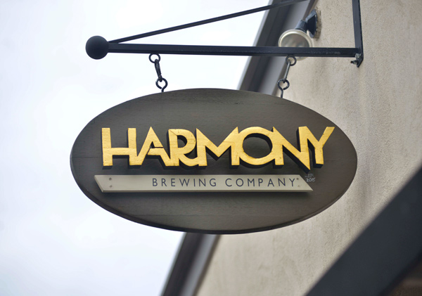 harmony brewing eastown sign