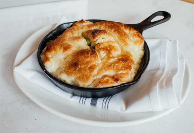 matchbox chicken pot pie skillet