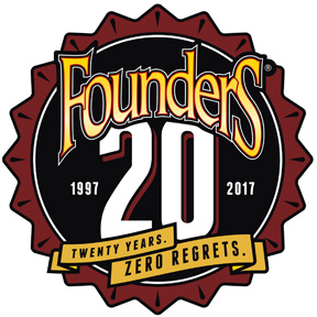 founders brewing 20th anniversary logo