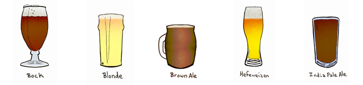 beer styles illustration