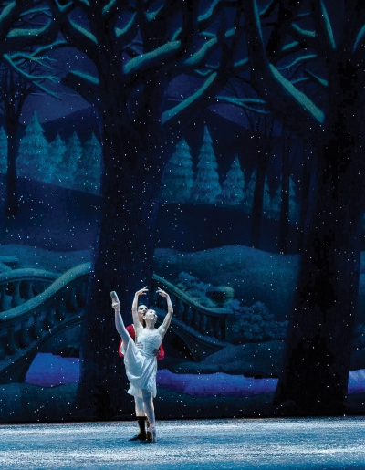"Yuka Oba-Muschiana and Josue Justiz in GR Ballet's ""The Nutcracker."""