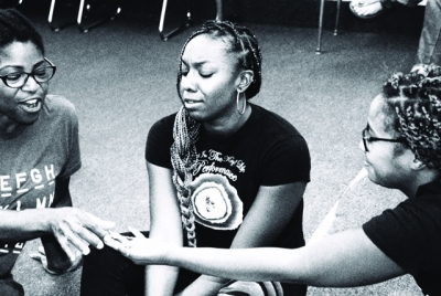 """For Colored Girls"" rehearsals at Ebony Road Players."