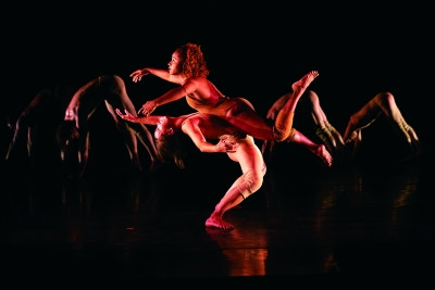 "Pilobolus' ""Come to your senses."""
