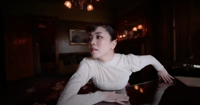 "Still from ""Sol and Luna,"" choreographed and filmed by Yuka Oba-Muschiana at the Voigt House Victorian Museum."