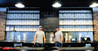 Brad Lawrence and Mike Smith, co-owners of Lost Art Brewhouse.
