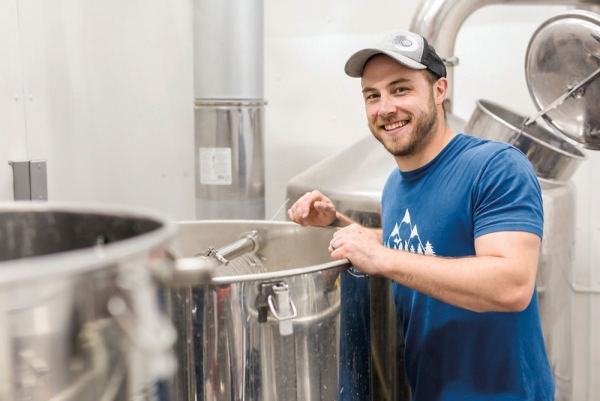 Co-founder Jake Stanko in the brewhouse.