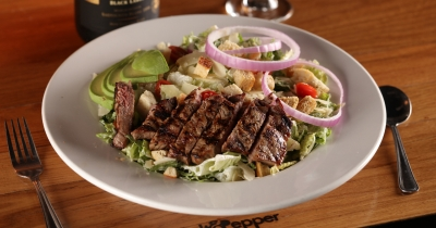 Steak and Avocado Caesar at Salt & Pepper.