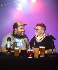 Hosts of In MI Pint, Kati Spayde and Ben Darcie.
